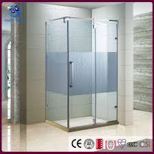 rectangular frameless hinged shower door 32 inch depth 3 8 inch glass