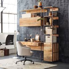 industrial style office desk. Plain Office Industrial Modular 49 Desk West Elm Within Style Prepare 14 In Office A
