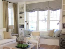 Decorations:Beautiful Scenery Living Room And Bay Window Seating Decorating  Idea Fresh Looking Window Seating