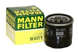 <b>Фильтр</b> автомобильный <b>масляный MANN</b> W67/1 (аналог Filtron ...