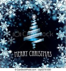Christmas Snowflakes Pictures Blue Merry Christmas Tree Snowflakes Background