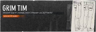 Nudie Slim Jim Size Chart Dry Jeans Addict