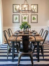 farm table with metal chairs farmhouse dining room inspiration combining stripes with fl prints farmhouse dining room table dining farmhouse table with