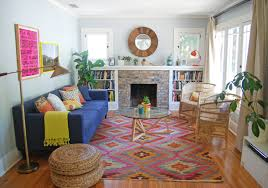 Innovative kilim rug in Living Room Contemporary with Pink And Navy next to  Small Family Room alongside ...