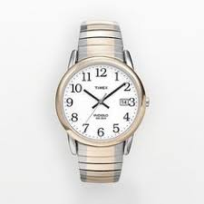 timex women s easy reader expansion band watch t2n068 goldtone timex watches at kohl s this men s watch features an indiglo night light and a silver and gold tone stainless steel expansion band model no