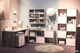 smart home office. Smart Home Office Design With Extensive Shelving And Closed Cabinets