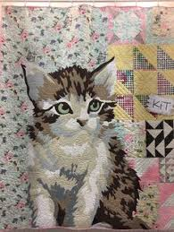 Pin by 齡云 劉 on 亂貼縫 | Pinterest | Patchwork, Cat and Quilt art & Kitten quilt by Erin Michael. 2016 Spring Quilt Market. Photo by lady K  Quilts Adamdwight.com