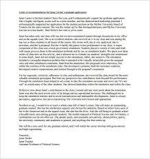 Academic Reference Letter Sample Professor Letter Of Recommendation