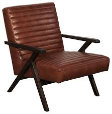 haven lounge chair saddle brown leather midcentury armchairs and accent chairs by a warehouse c furniture