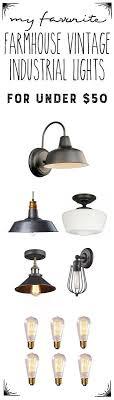 vintage farmhouse lighting. Vintage Industrial Farmhouse Lights Under $50 | Industrial, And 50th Lighting D
