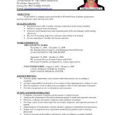 Resume Templates Rnple Objective Experience Best Of Registered Nurse