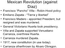 compare and contrast essay mexican revolution