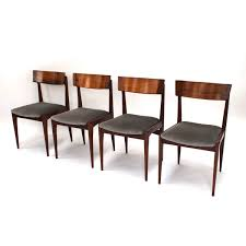 mid century brazilian rosewood dining chairs set of 4