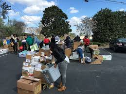 several local non profits ped at the cobb county united way office on march 21 for supplies in their offices and for client services during a gifts in