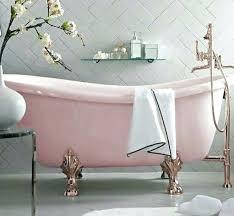 claw bathtub pink and rose gold claw foot tub herring bone tile wall dreamy clawfoot bathtub claw bathtub