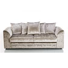 Michigan Crushed Velvet 3 Seater Sofa Mink, 3 Seater Sofas, Crushed Velvet