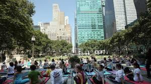 bryant park once again brings m yoga cles