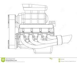 hot rod engine stock vector image 66393906 hot rod engine