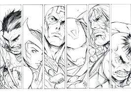Marvel Characters Coloring Pages Marvel Characters Coloring Pages