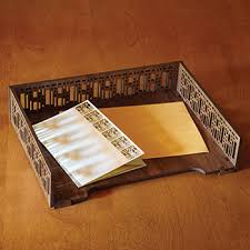 Decorative Letter Trays Sale Robie Grille Letter Tray 5