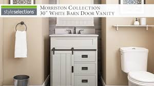 style selections morriston 30 in white single sink bathroom vanity with white engineered stone top at com