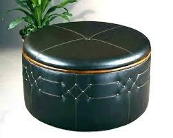 black leather ottoman with storage round leather ottoman round leather ottoman coffee table with storage black