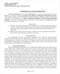 Lease Agreement Example Sample Commercial Lease Agreement Examples In Word Template