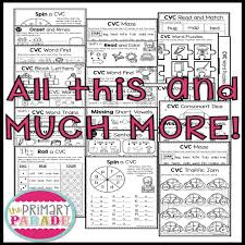 Play word games that teach, build or strengthen your word skills and concepts while. Cvc Phonics Worksheets The Primary Parade