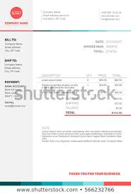 invoice template design vector minimalist invoice template design your stock vector royalty
