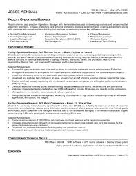 Stylish Facilities Manager Resume Creative Inspiration Sample