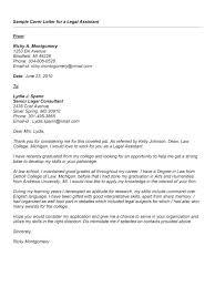 Sample Cover Letter Legal Assistant Standart Visualize Paralegal Job