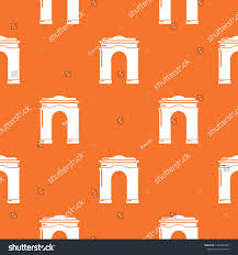 Archway Graphic Designs Archway Big Pattern Vector Orange Any Stock Vector Royalty