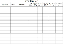 inventory checklist template excel blank fill out inventory spreadsheet template example for keeping