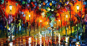 modern impressionism palette knife oil painting kp167