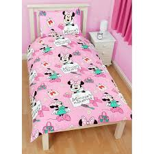 33 first rate disney duvet covers com minnie mouse kids girls chic reversible single cover bedding set twin bed pink home kitchen