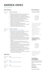 Career Counselor Resume Waiter Resume Examples For Letters Job