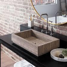 gray vessel sink.  Gray Lehi Stone Vessel Sink Wooden Gray Marble With Sink K
