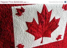 68 best Canadian Flag images on Pinterest | Quilt block patterns ... & Summer Sale 10% Off Canadian Flag Patriotic Quilt. $225.00, via Etsy. Adamdwight.com