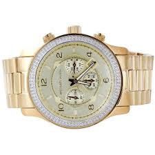new michael kors gold tone mens diamond watch mk8077 runaway new michael kors gold tone mens diamond watch mk8077 runaway series 45mm 1 5 ct