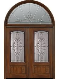 80 double 1 panel 3 4 arch lite courtlandt cherry walnut door w