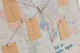 Map Seating Chart Wedding Embroidered Fabric World Map Wedding Table Plan