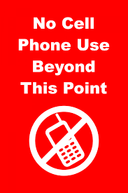 No Cell Phone Use Beyond This Point Custom Signs