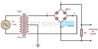 full wave bridge rectifier circuit working and applications bridge rectifier circuit diagram