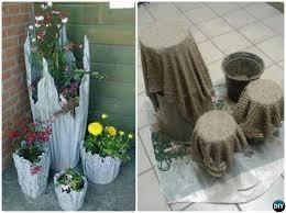 diy cement dd hypertufa planter concrete planter diy ideas projects