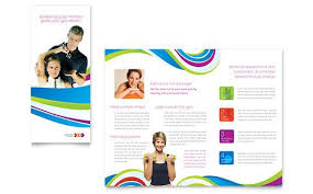 Trifold Template For Word Tri Fold Brochure Template Publisher Personal Trainer Tri Fold