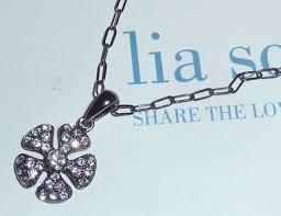 new demo lia sophia pave crystal flower hematite chain perfect