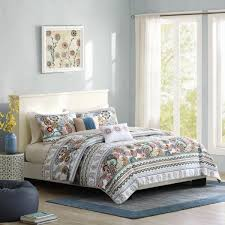 intelligent design tamira twin twin xl size quilt bedding set blue white medallion 4 piece bedding quilt coverlets ultra soft microfiber bed quilts
