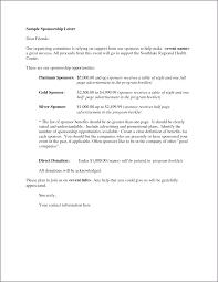How To Write Sponsor Letter