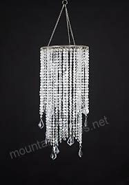 flavorthings 2 tiers 20 5 tall sparkling iridescent acrylic beaded hanging chandelier great idea for wedding