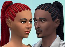 Mod The Sims: Ponytail Dreads by Esmeralda ~ Sims 4 Hairs